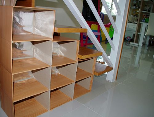 Shelves from candy boxes